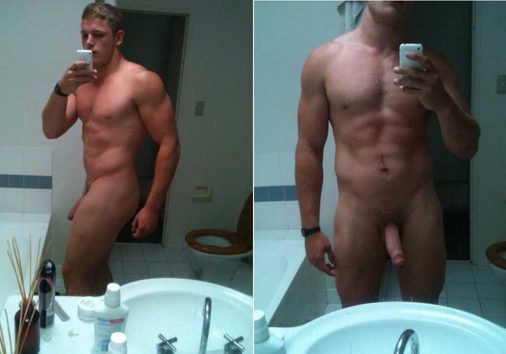 Rugby player and total beefcake George Burgess took this nude ...