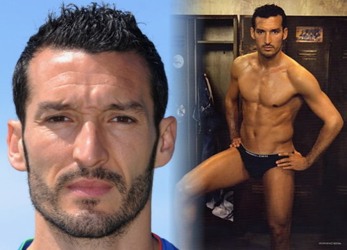 Italian Footballer In Underwear